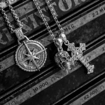 CLOCKS AND Colours Necklaces & Chokers Star Street Style Chain Silver Logo Necklaces & Chokers 10