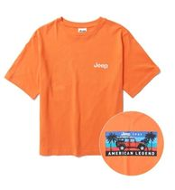 JEEP More T-Shirts Pullovers Unisex Studded Street Style U-Neck Plain Cotton 4