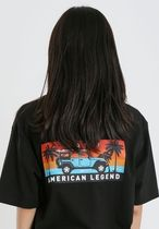 JEEP More T-Shirts Pullovers Unisex Studded Street Style U-Neck Plain Cotton 13