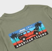 JEEP More T-Shirts Pullovers Unisex Studded Street Style U-Neck Plain Cotton 19