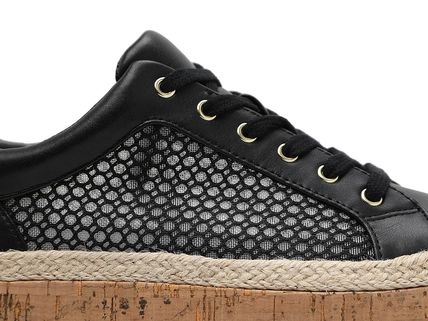 Rubber Sole Casual Style Studded Street Style Leather