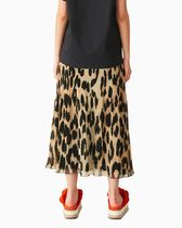 Ganni Leopard Patterns Casual Style Street Style Long Maxi Skirts