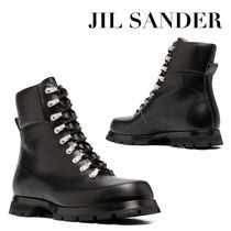 Jil Sander Mountain Boots Plain Leather Outdoor Boots