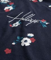 Hollister Co. Crew Neck Crew Neck Pullovers Stripes Flower Patterns Street Style 11