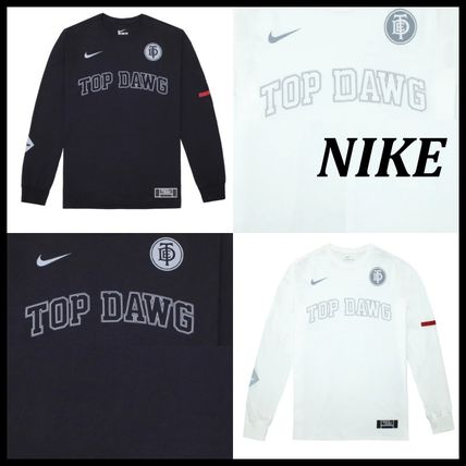 Nike Long Sleeve Crew Neck Street Style Collaboration Long Sleeves Cotton