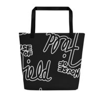 Patricia Field Casual Style Street Style Logo Totes