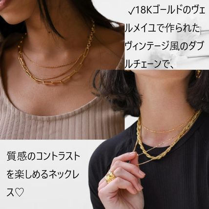 Casual Style Chain Party Style 18K Gold Elegant Style