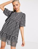 New Look Short Other Plaid Patterns Casual Style Cotton Short Sleeves