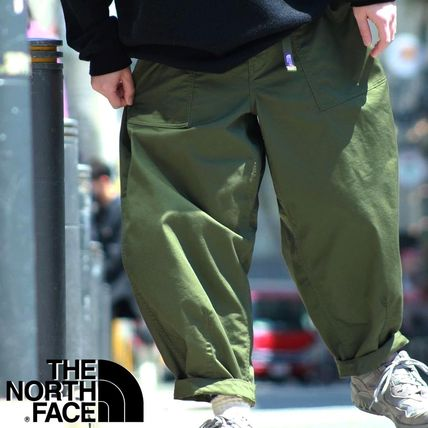 THE NORTH FACE Collaboration Plain Cotton Oversized Cropped Pants