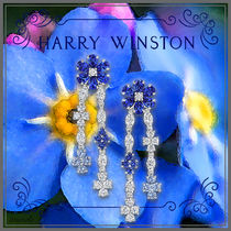 Harry Winston Casual Style Party Style Platinum Flower Tiaras Office Style