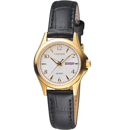 Casual Style Leather Round Party Style Quartz Watches