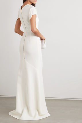 Casual Style Tight Maxi A-line Wool Flared Plain