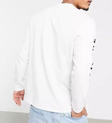 adidas Long Sleeve Crew Neck Pullovers Street Style Long Sleeves Cotton 3