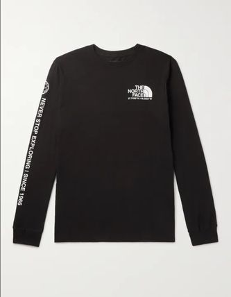 THE NORTH FACE Long Sleeve Sweat Long Sleeves Plain Cotton Logos on the Sleeves 2