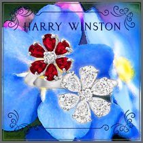 Harry Winston Casual Style Platinum Flower Tiaras Formal Style  Rings