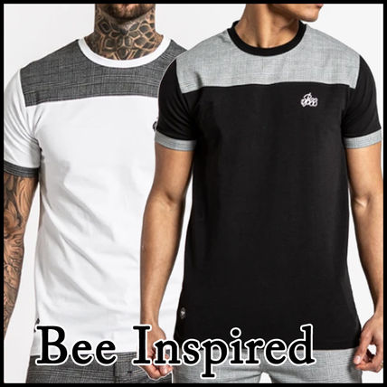 Bee Inspired Clothing Crew Neck Crew Neck Pullovers Other Plaid Patterns Street Style Plain