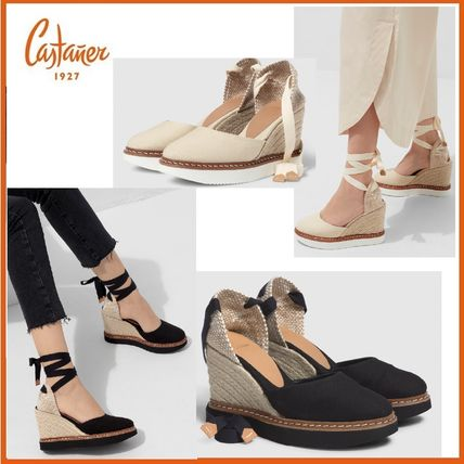 Castaner Platform & Wedge Lace-up Casual Style Plain Party Style