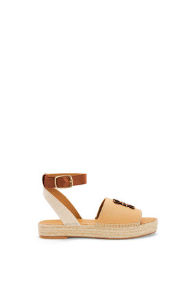 LOEWE Open Toe Platform Casual Style Street Style Plain Leather