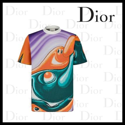 Christian Dior More T-Shirts Oversized Dior And Kenny Scharf Short-Sleeved Sweater