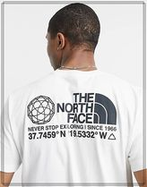 THE NORTH FACE Crew Neck Crew Neck Street Style Cotton Short Sleeves Logo Outdoor 6