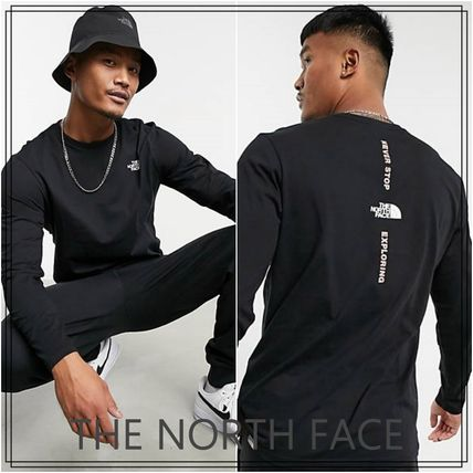 THE NORTH FACE Long Sleeve Crew Neck Street Style Long Sleeves Cotton