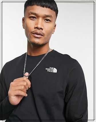 THE NORTH FACE Long Sleeve Crew Neck Street Style Long Sleeves Cotton 3