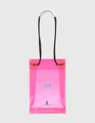 Casual Style Collaboration Plain Crystal Clear Bags