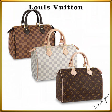 Louis Vuitton SPEEDY Unisex Street Style Plain Logo Boston & Duffles