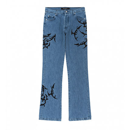 Street Style Cotton Tribal Jeans