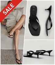 Massimo Dutti Casual Style Street Style Leather Elegant Style Sandals