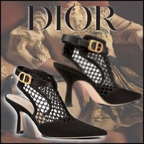 Christian Dior Plain Toe Lace-up Casual Style Suede Street Style Plain