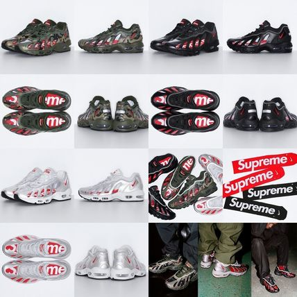 Supreme Camouflage Street Style Collaboration Dad Sneakers Logo