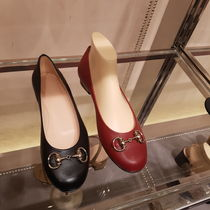 GUCCI Casual Style Plain Leather Office Style Elegant Style