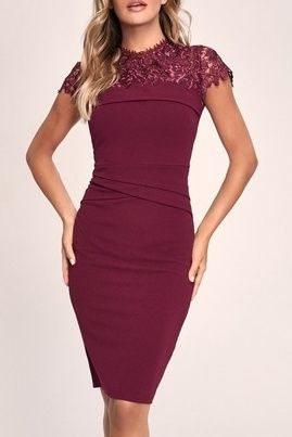 Tight Plain Medium Party Style Lace Elegant Style