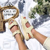 Open Toe Platform Round Toe Casual Style Faux Fur