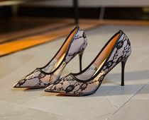 Flower Patterns Pin Heels Party Style Elegant Style