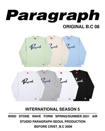 Paragraph Long Sleeve Unisex Street Style Long Sleeves Cotton Oversized 2