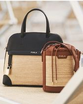 FURLA Bucket Bags Casual Style 2WAY Plain Party Style Purses Elegant Style 6