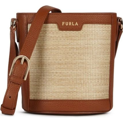 FURLA Bucket Bags Casual Style 2WAY Plain Party Style Purses Elegant Style 3