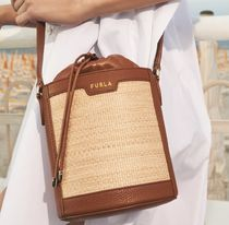 FURLA Bucket Bags Casual Style 2WAY Plain Party Style Purses Elegant Style 7