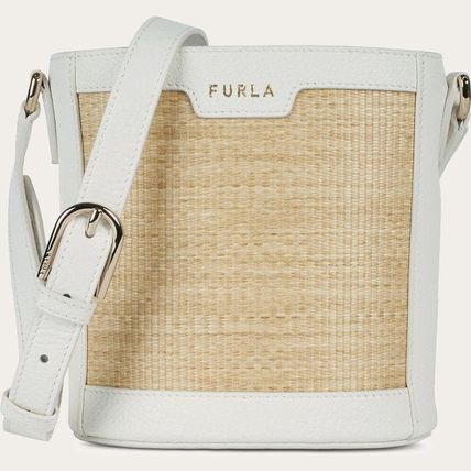 FURLA Bucket Bags Casual Style 2WAY Plain Party Style Purses Elegant Style 2