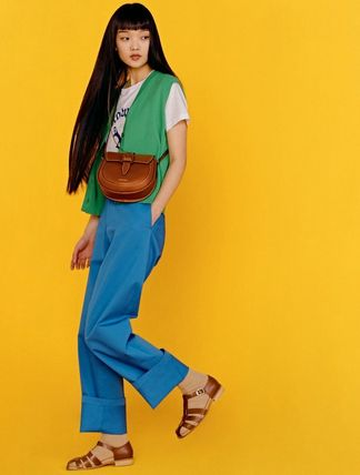 Casual Style Plain Office Style Crossbody Formal Style