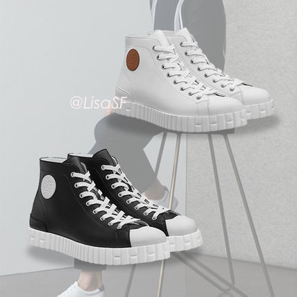 HERMES Climb Street Style Leather Sneakers