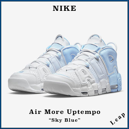 Nike AIR MORE UPTEMPO Street Style Collaboration Plain Sneakers