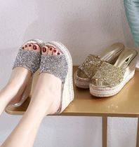 Platform Casual Style With Jewels Mules