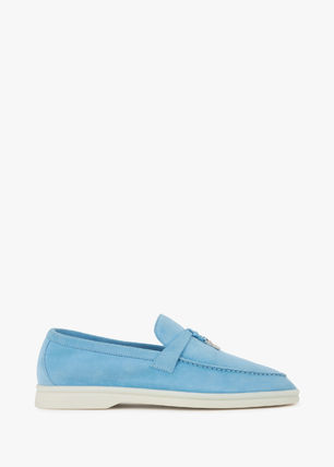 Moccasin Casual Style Suede Plain Slip-On Shoes