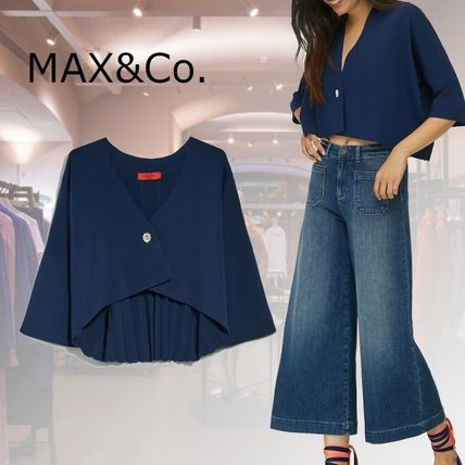 Max&Co. Short Casual Style Nylon Plain Party Style With Jewels