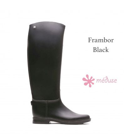 Rubber Sole PVC Clothing Flat Boots