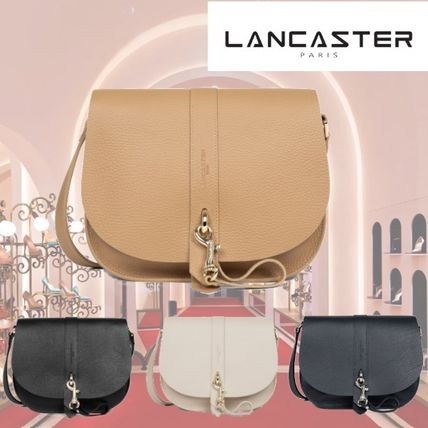 LANCASTER Shoulder Bags Casual Style Plain Leather Party Style Office Style