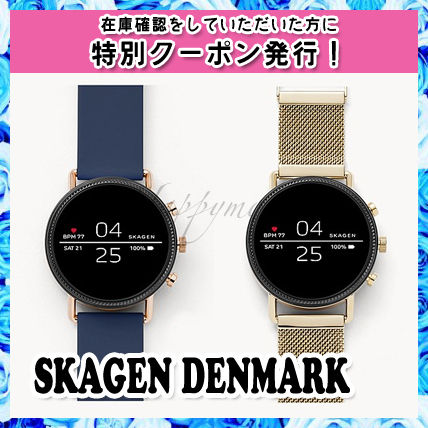Leather Round Stainless Digital Watches